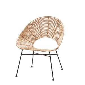 Rattan chair SHELL natural - Hübsch