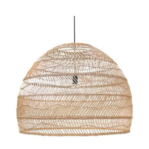 Wicker hanging lamp ball natural L - HKliving