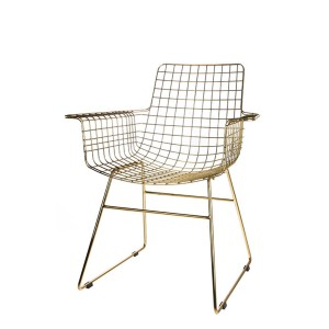 Metal WIRE armchair brass - HKliving