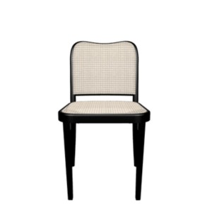 Chair A-811, Black - weave on the seat + backrest