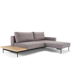 Sofa BRAGI ze stolikiem szara - INNOVATION LIVING