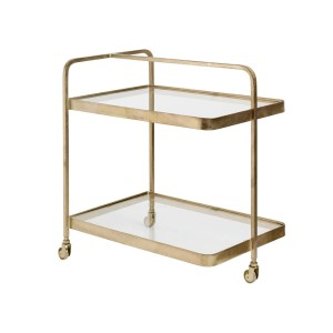 Brass TROLLEY on 3 wheels - Nordal
