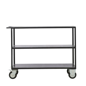 Shelving unit w/4 wheels black - House Doctor