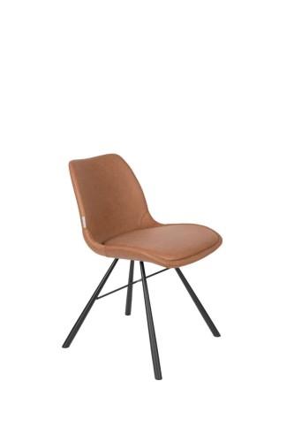 Krzesło BRENT AIR brązowe Zuiver