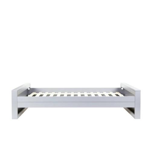 Woood Dennis Bed.Bed Dennis Concrete Grey Woood