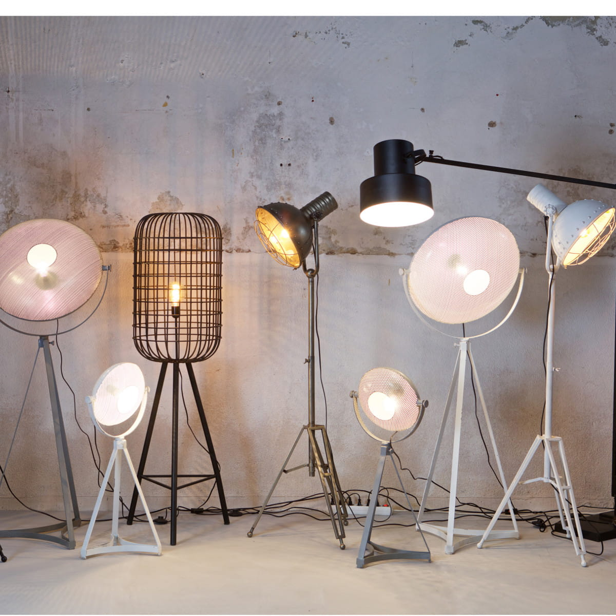Floor lamp hurricane black be pure nordic decoration home floor lamp hurricane black be pure mozeypictures Image collections