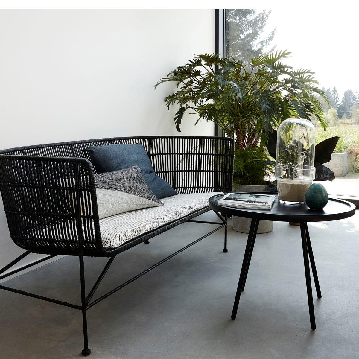 sofa rattanowa cuun black house doctor nordic decoration home. Black Bedroom Furniture Sets. Home Design Ideas