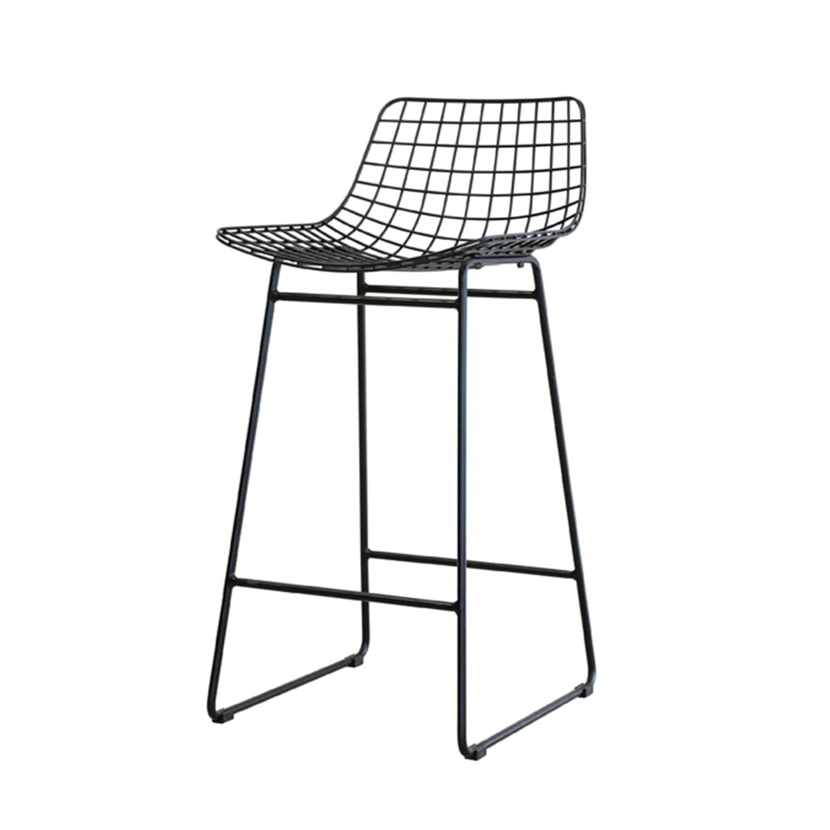 Prime Bar Stool Wire Black Hk Living Gmtry Best Dining Table And Chair Ideas Images Gmtryco