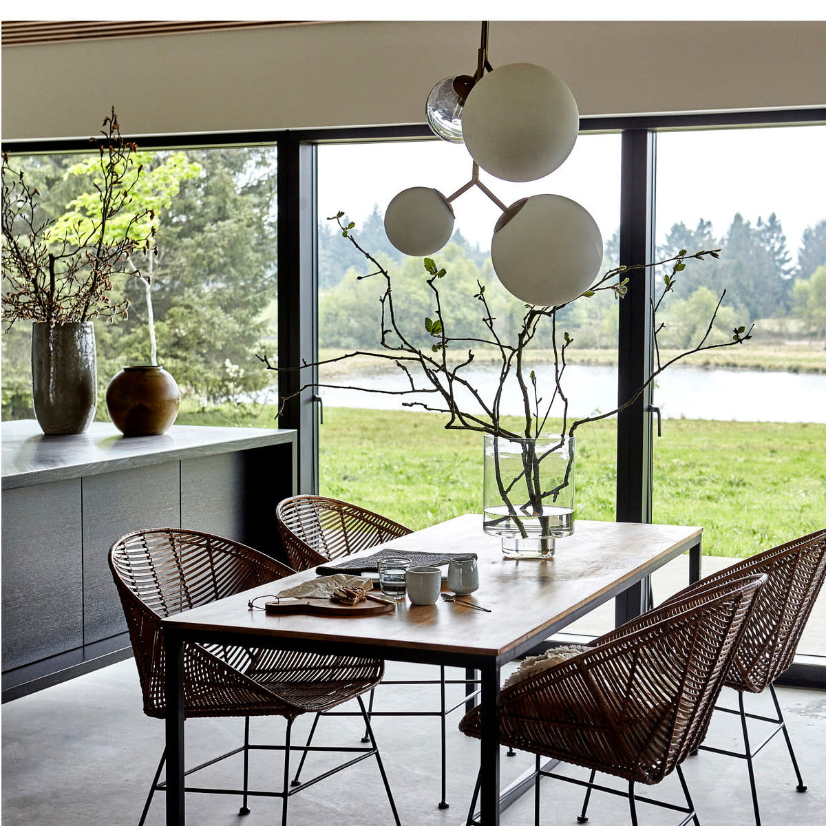 Pendant Lamp TWICE Whitegrey House Doctor Nordic