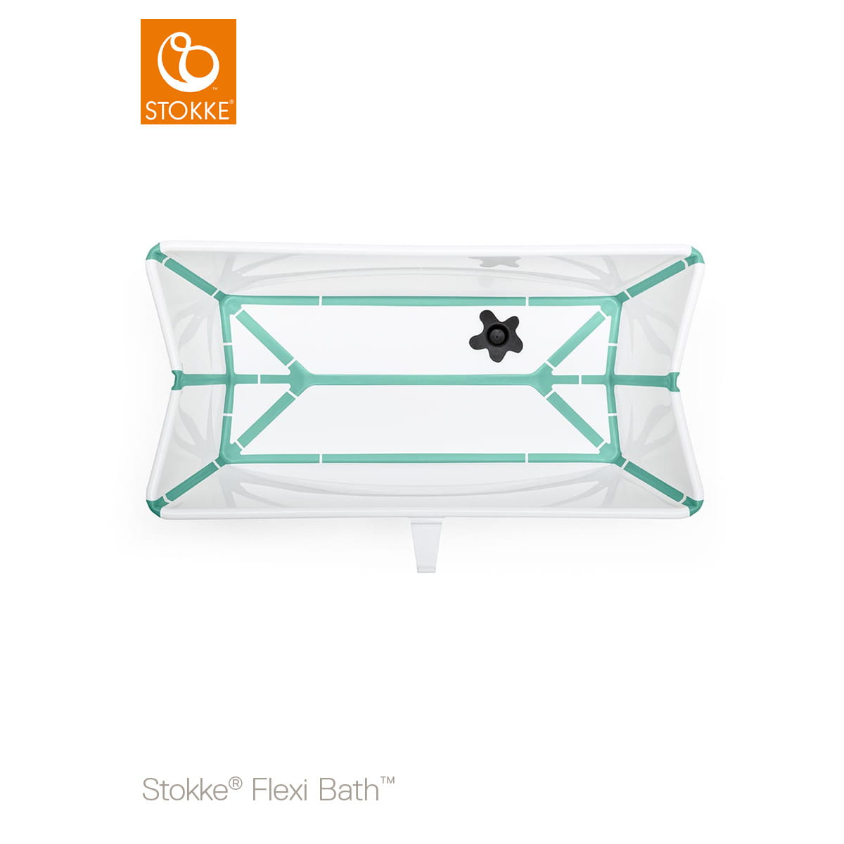 Foldable baby bath tub STOKKE FLEXI BATH white aqua Nordic ...