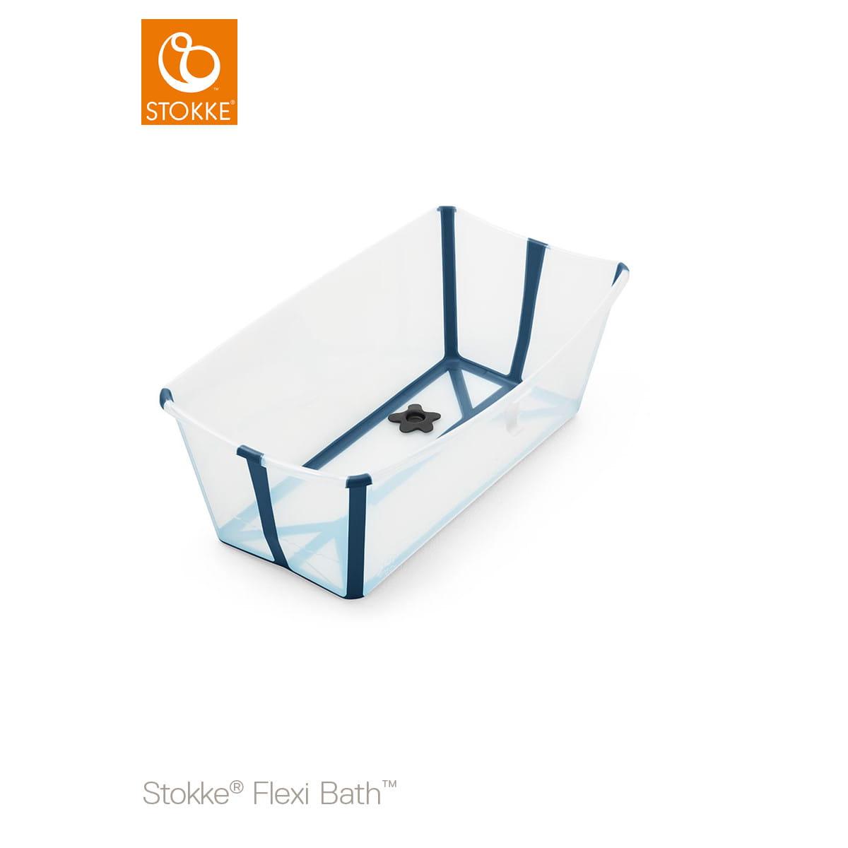 Foldable baby bath tub STOKKE FLEXI BATH transparent blue Nordic ...