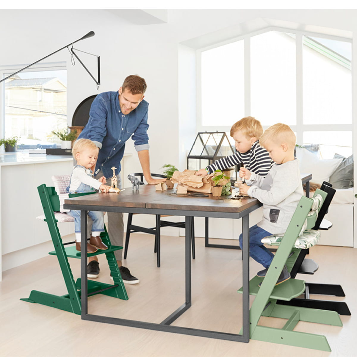 nak adka stokke tripp trapp baby set moss green nordic decoration home. Black Bedroom Furniture Sets. Home Design Ideas