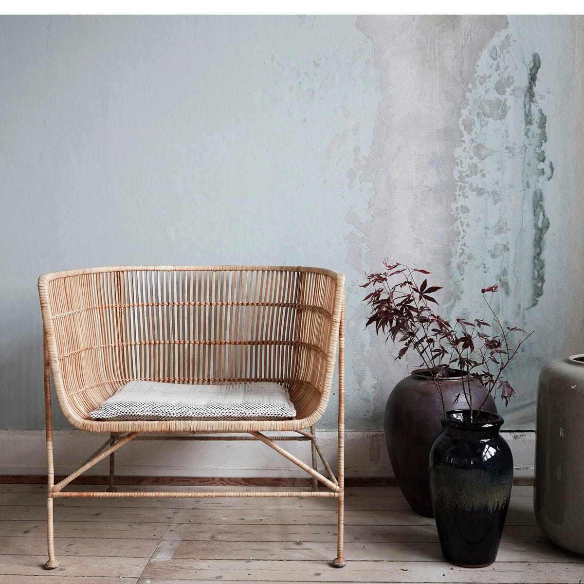 Rattan Arm Chair CUUN NATURE   House Doctor