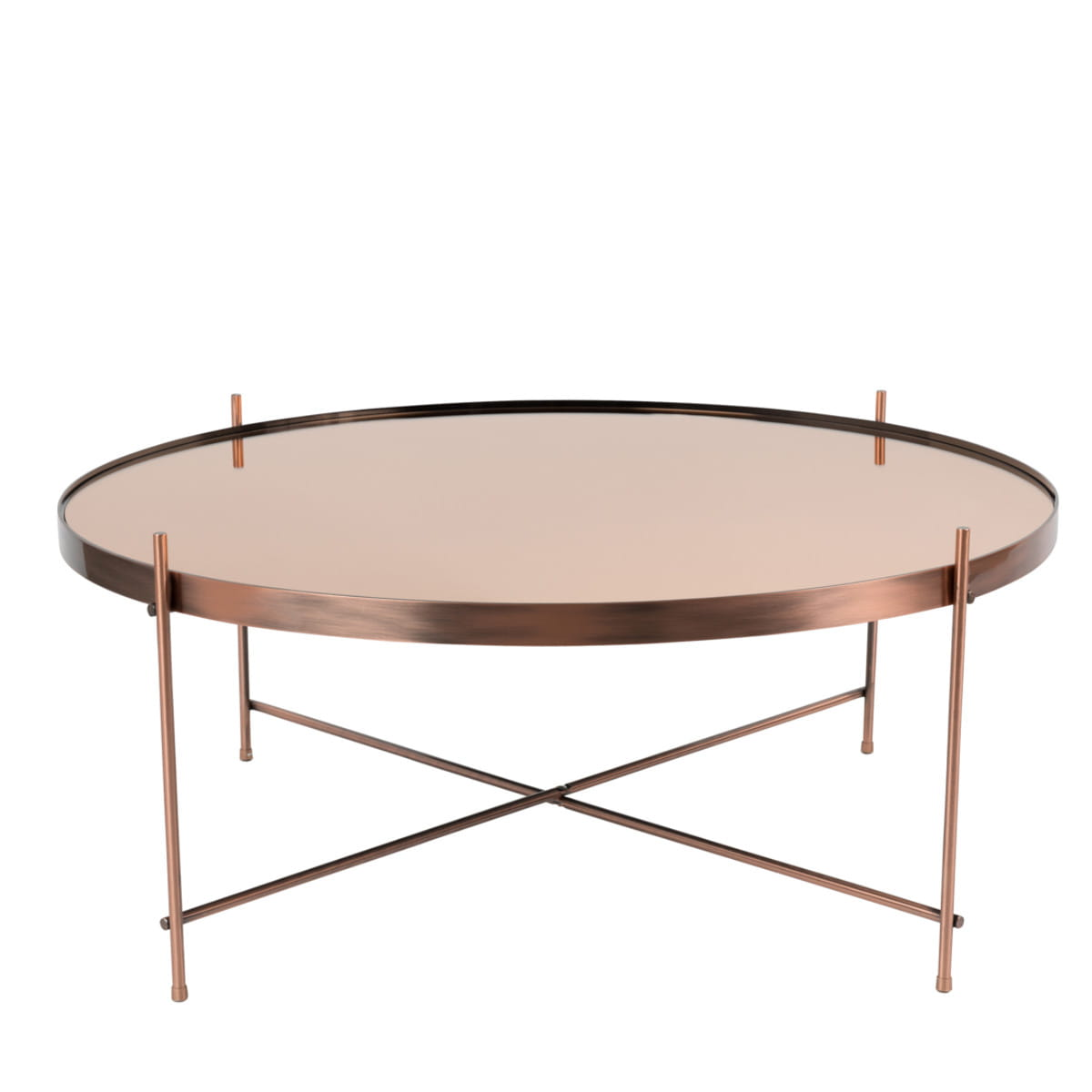 Coffee table cupid xxl copper zuiver nordic decoration home for Decoration xxl