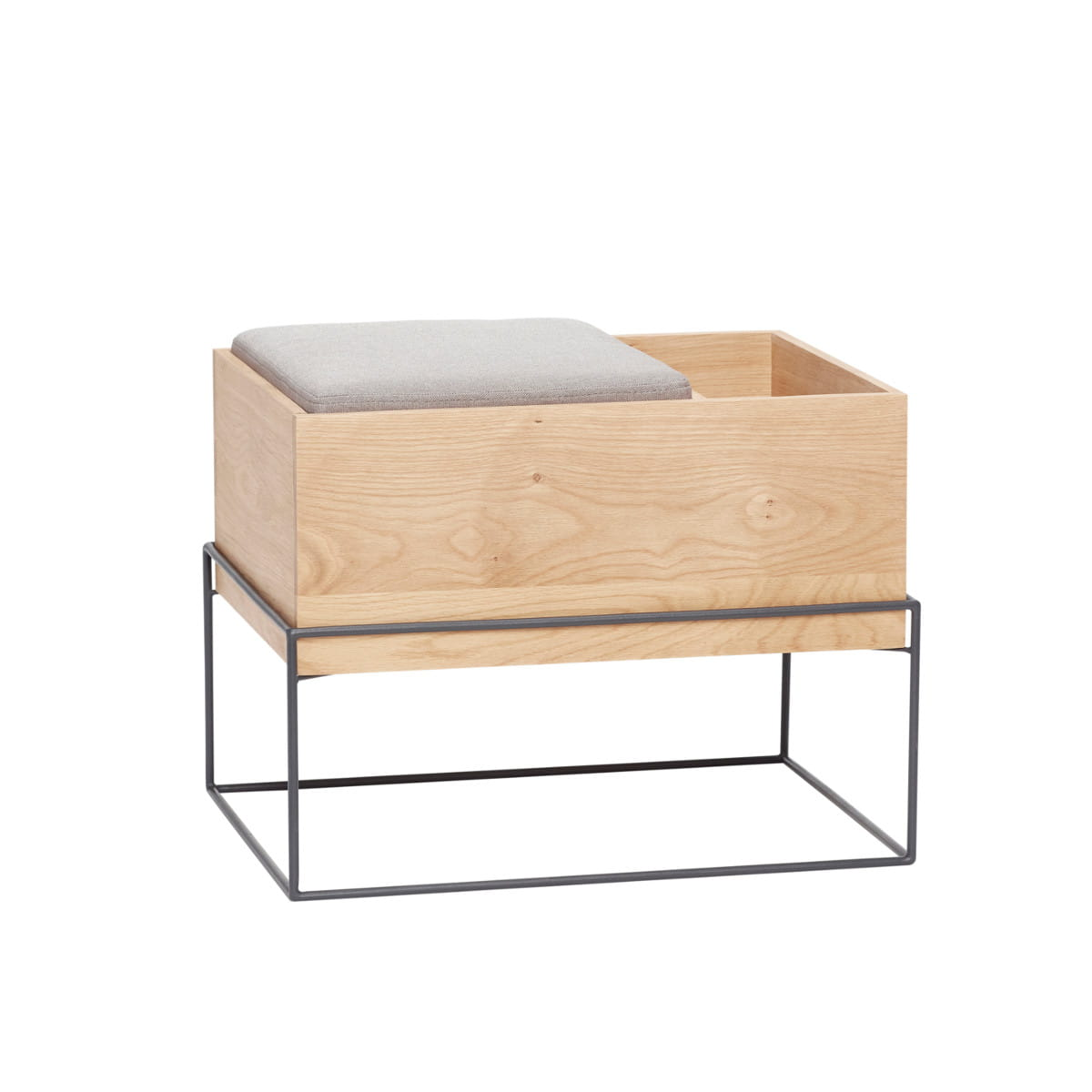 Bench With Cushionstorage Frame Hübsch Nordic Decoration Home