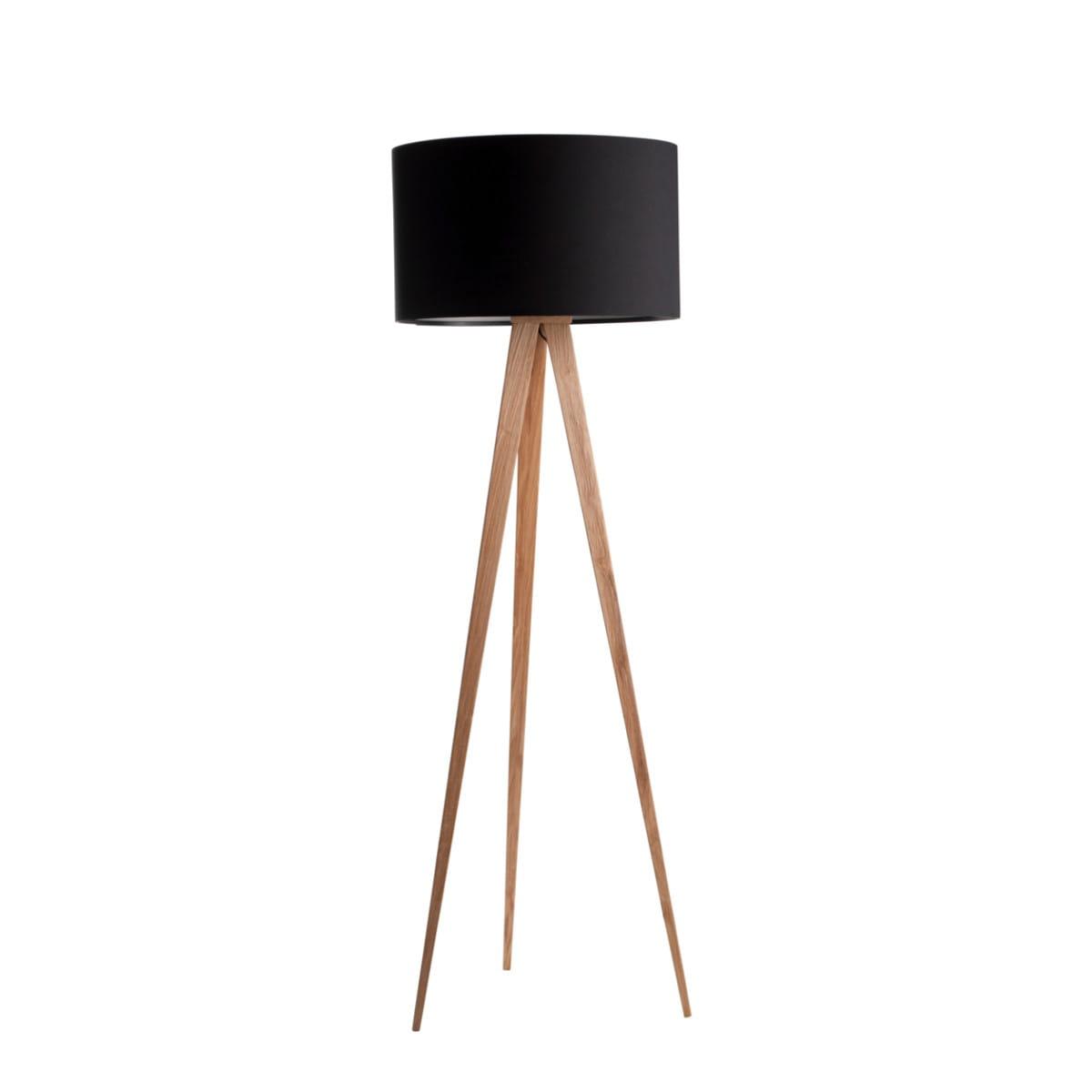 floor lamp tripod wood black zuiver nordic decoration home. Black Bedroom Furniture Sets. Home Design Ideas