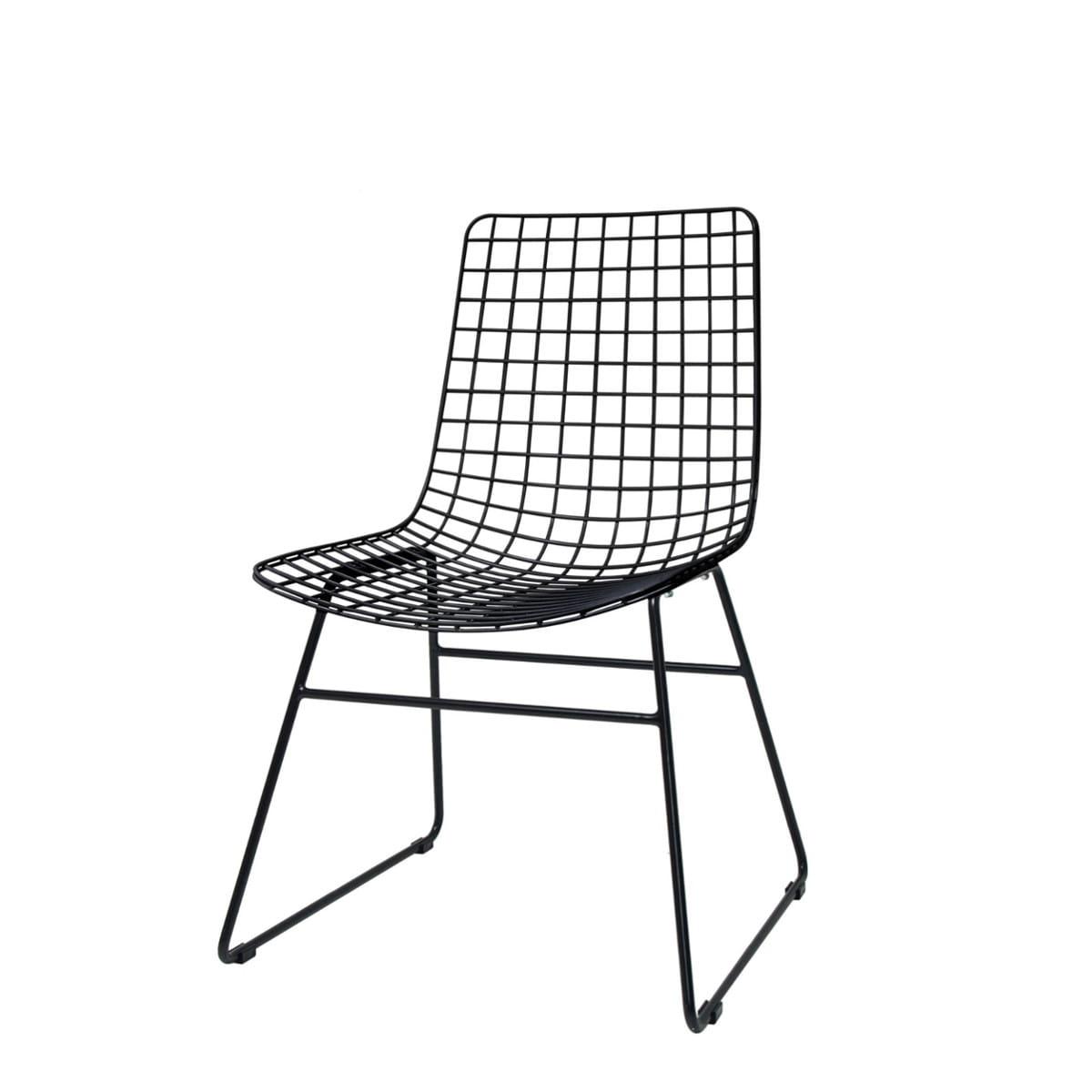 Krzesło Metalowe Wire Czarne Hk Living Nordic Decoration Home