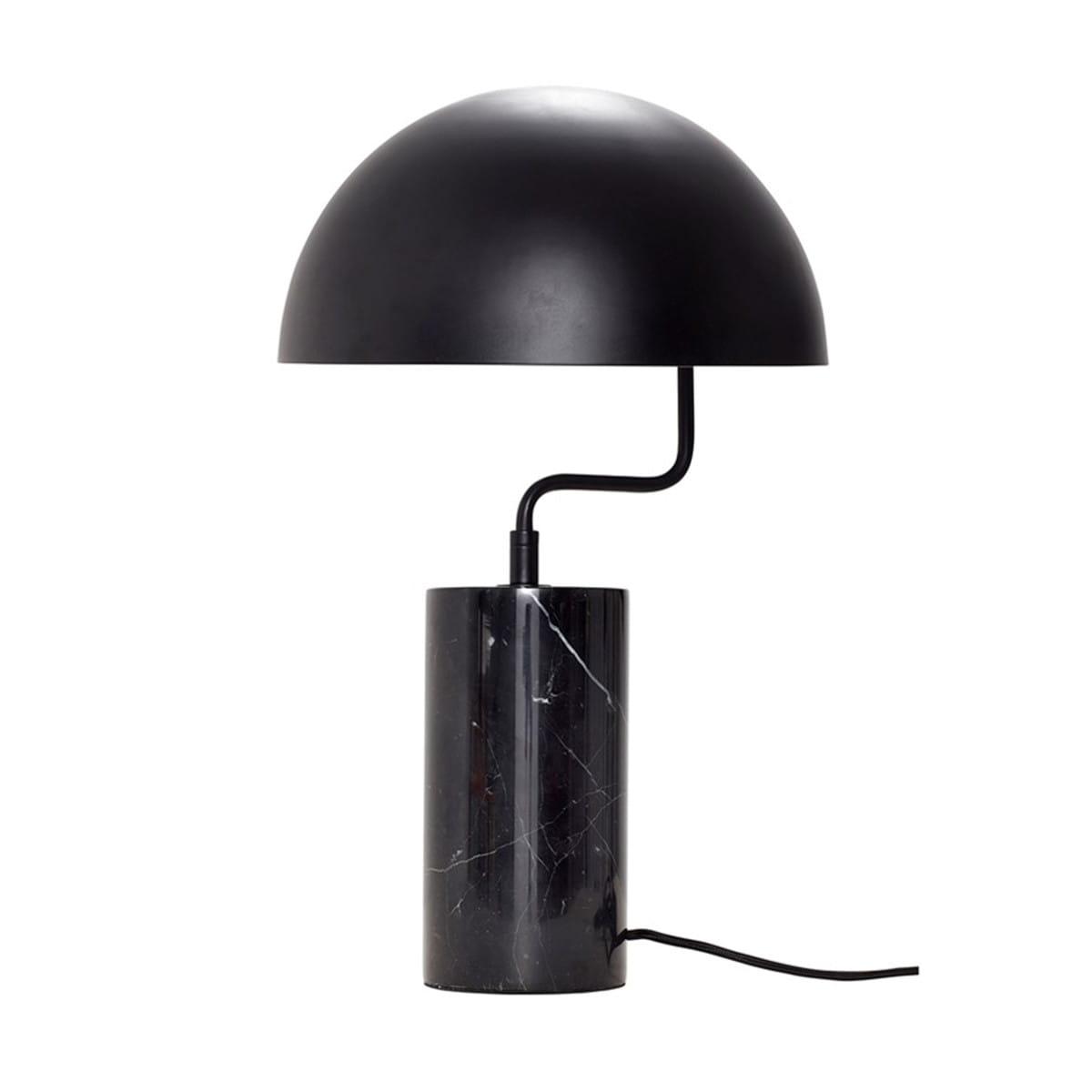 Lampa Stolowa Dome Czarna Hubsch Nordic Decoration