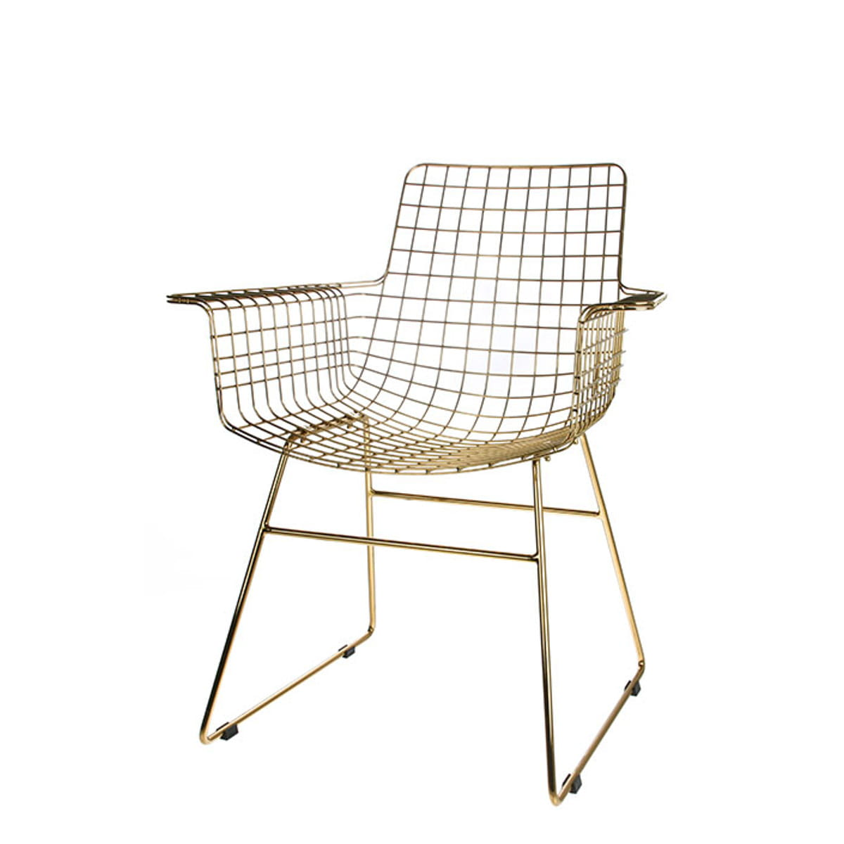 Metal Wire Armchair Brass Hkliving Nordic Decoration
